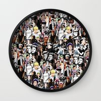 niall horan Wall Clocks featuring Punk Niall Horan College by Becca / But-Like-How