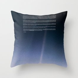 Pale Blue Dot — Voyager 1 (2020 rev.), quote Throw Pillow
