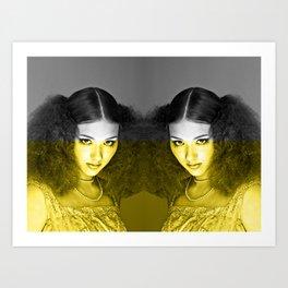 Illuminating Funky Gray LOLITA Art Print