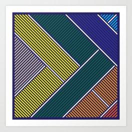 Dark Geometrical Art Print