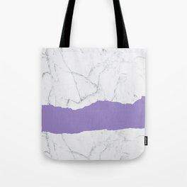 Elegant violet gray white modern marble pattern Tote Bag