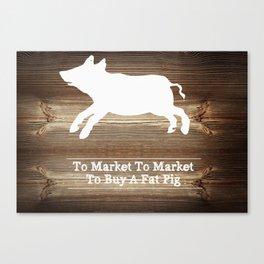 To Market Canvas Print