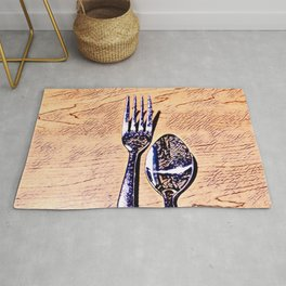 Forks and knives Rug