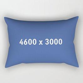 3000x2400 Placeholder Image Artwork (Facebook Blue) Rectangular Pillow