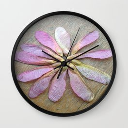 Pink Helicopters Wall Clock