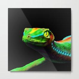 Gecko Lizard Close up 3d digital Art Metal Print