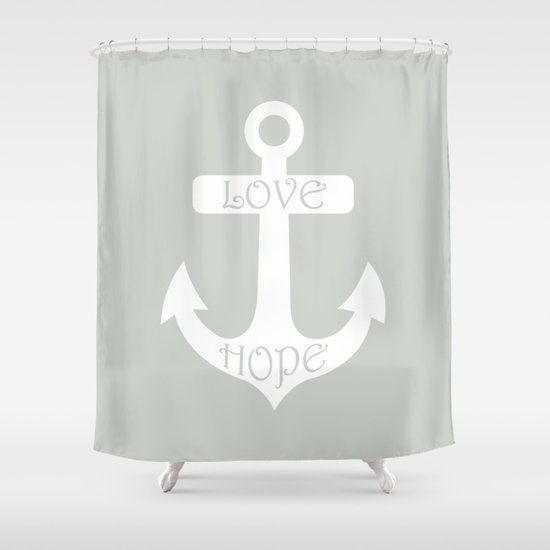 Anchor Sea Salt Shower Curtain