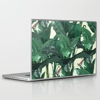banana leaf Laptop & iPad Skins featuring Banana Leaf Pattern 2 by Tamsin Lucie