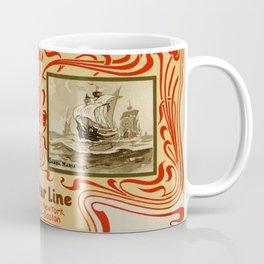 Red Star Line Antwerp New York ocean liners Coffee Mug
