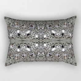 girly chic glitter sparkle rhinestone silver crystal Rectangular Pillow