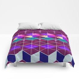 Cube Geometric IX Comforters
