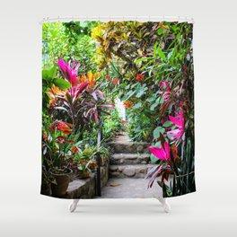 Dreamy Mexican Jungle Garden Shower Curtain