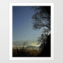 Grenoble Cornfield  Art Print