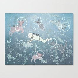 Scuba Dogs Canvas Print