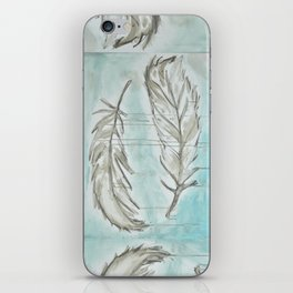 Feathers and memories iPhone Skin
