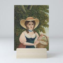 """Woman with Basket of Eggs (La Femme au panier d'Å""""ufs) (ca. 1905–1910) by Henri Rousseau. Mini Art Print"""
