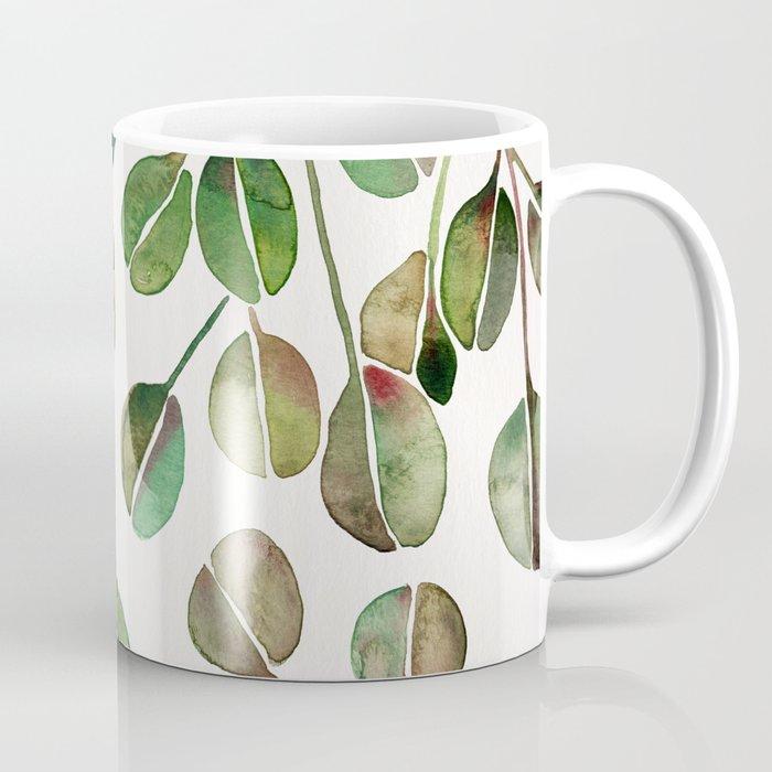 Silver Dollar Eucalyptus Green Palette Coffee Mug