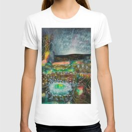 To Cover the Earth with a New Dew, Northern Lights fantastical landscape painting by Robert Matta T-shirt