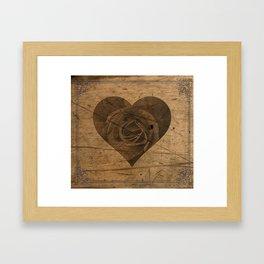 The Heart of the Rose Framed Art Print