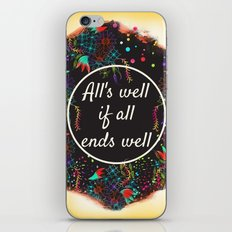 Shakespeare Alls Well if All Ends Well iPhone & iPod Skin