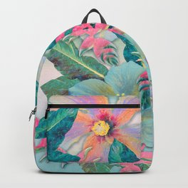 Aqua Ginger Alohas Backpack