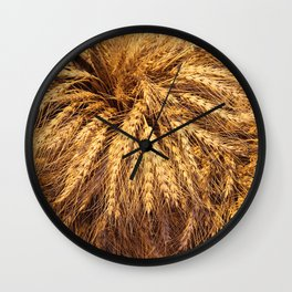 bunch of wheat Wall Clock