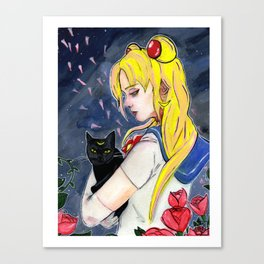 Sailor Moon Portrait Canvas Print