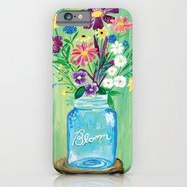 Bloom Mason Jar iPhone Case