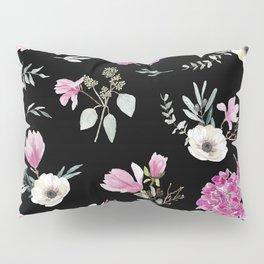 Magnolias, anemones, geranium and eucalyptus Pillow Sham