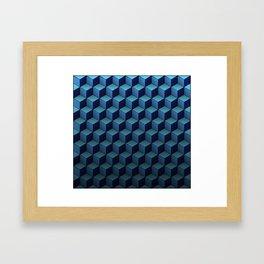 Game of Cubes - Sky before rain Framed Art Print