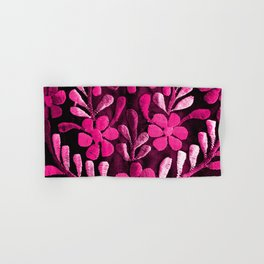 Hot Pink Mexican Flowers Hand & Bath Towel