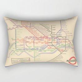 Vintage London Underground Map Rectangular Pillow