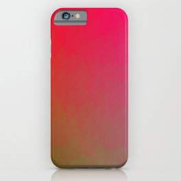 Red Gold Green Ombre Flame iPhone Case