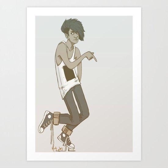 lost my moral code Art Print