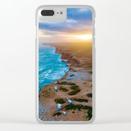 Sunset on the Nullabor, South Australia (landscape style) Clear iPhone Case