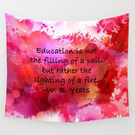 Lighting of a Fire Wall Tapestry