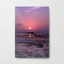 Zanzibar Island Sunrise Metal Print