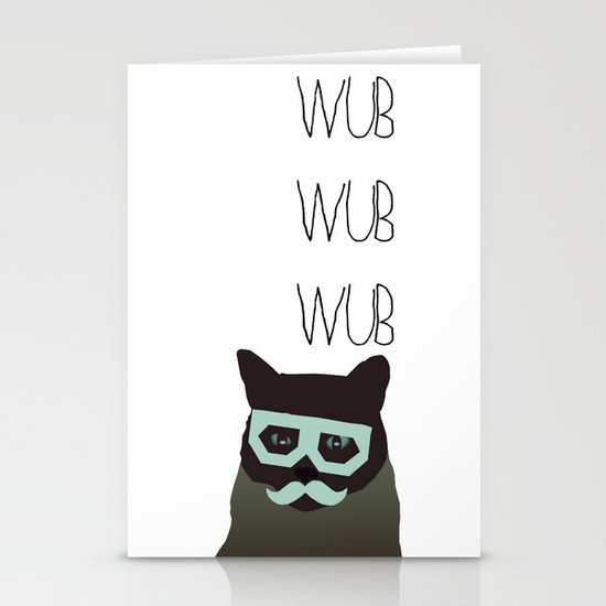dubstep cat Stationery Cards