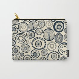 Honolulu hoops indigo cream Carry-All Pouch