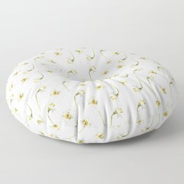 Dancing Daffodils Floor Pillow