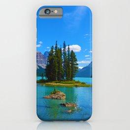 Spirit Island on Maligne Lake in Jasper National Park, Canada iPhone Case