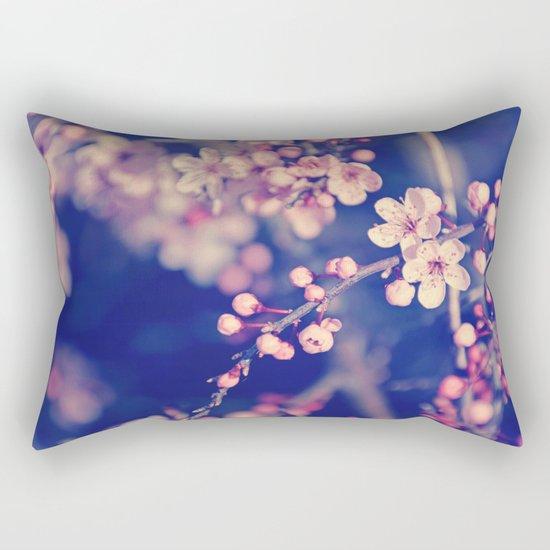 Gentle Rose Cherry Blossom Rectangular Pillow