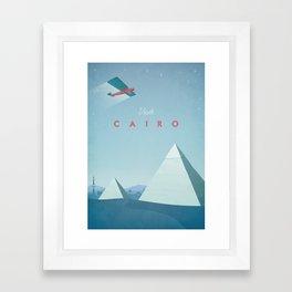Cairo - Vintage Travel Poster Framed Art Print