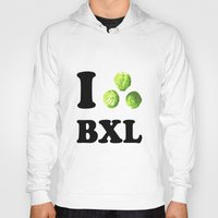 brussels Hoodies featuring I Choux Bruxelles - I sprout Brussels by Miss Pompompom