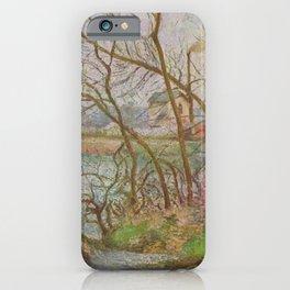 Camille Pissarro - Banksof the Oise, near Pontoise, Winter iPhone Case