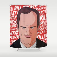 tarantino Shower Curtains featuring Tarantino by Happy Motion