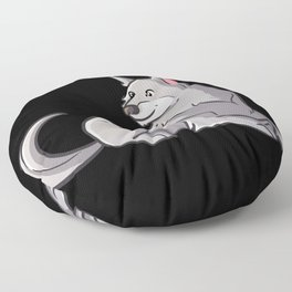 Animals of the Mountains gray wolf gifts for kids Floor Pillow