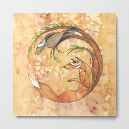 Aesop's Fables - The Fox and the Crow Metal Print