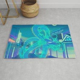 Neon Dragon Rug