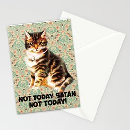 Not today Satan, not today Stationery Cards